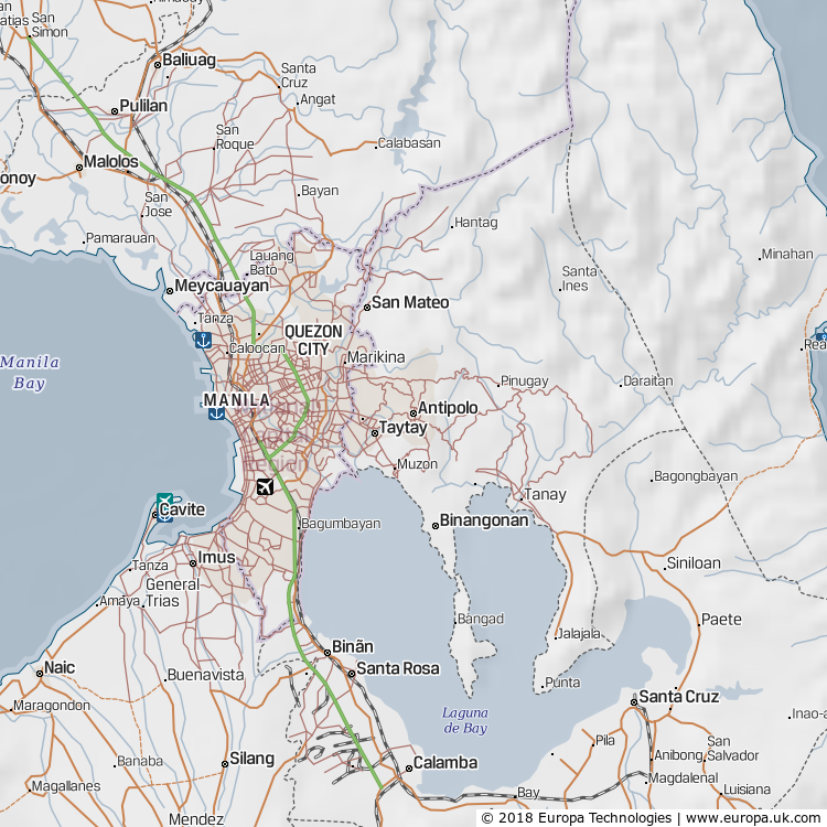 Map of Antipolo, Philippines from the Global 1000 Atlas