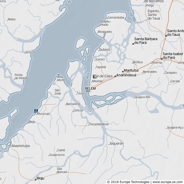 Map of Belém, Brazil from the Global 1000 Atlas