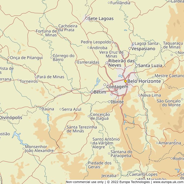 Map of Betim, Brazil from the Global 1000 Atlas