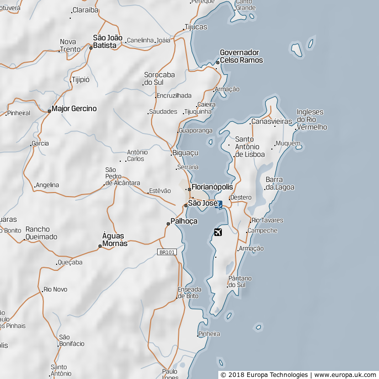 Map of Florianópolis, Brazil from the Global 1000 Atlas