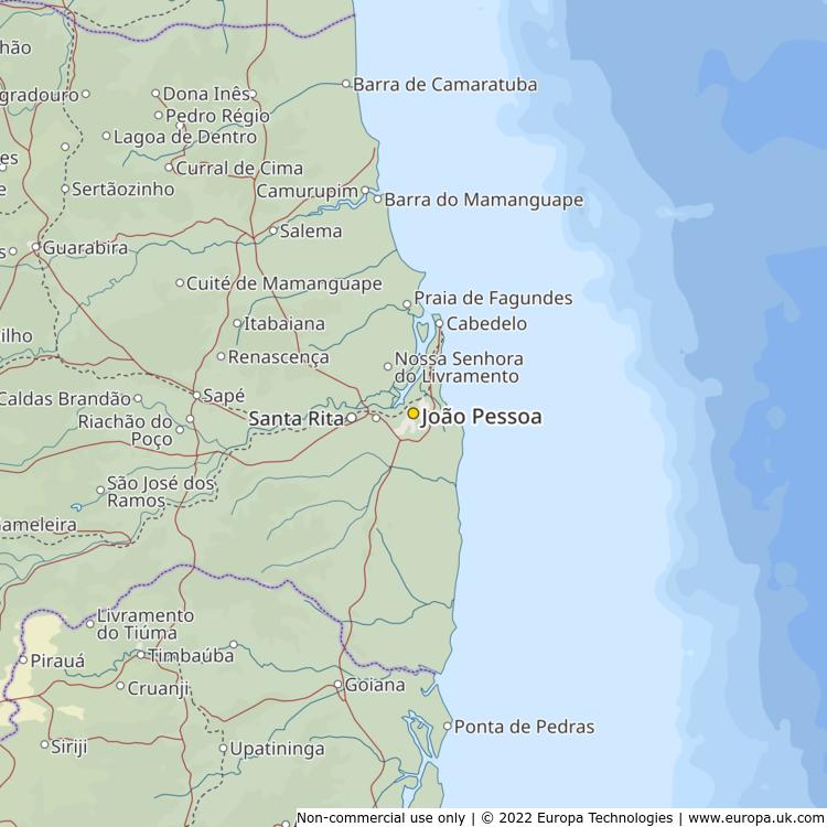 Map of João Pessoa, Brazil from the Global 1000 Atlas