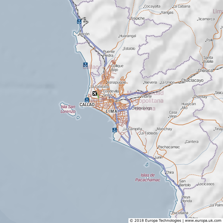 Map of Lima, Peru from the Global 1000 Atlas