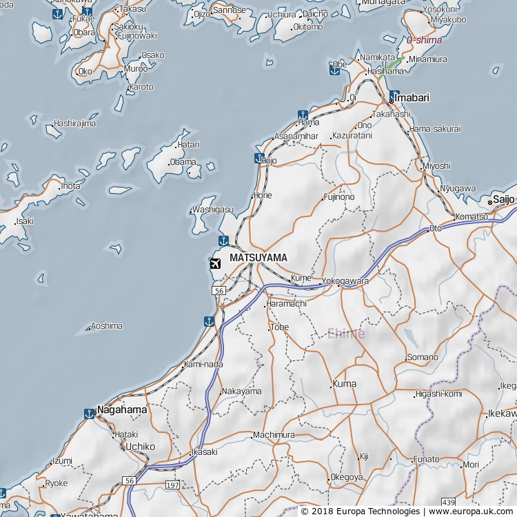 Map of Matsuyama, Japan from the Global 1000 Atlas