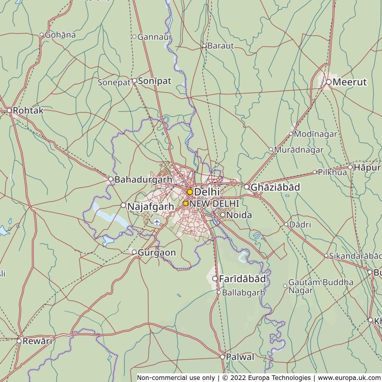 Map Of New Delhi India Global 1000 Atlas