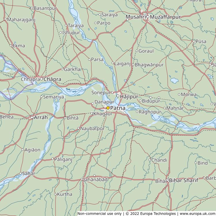 Patna In India Map.Map Of Patna India Global 1000 Atlas