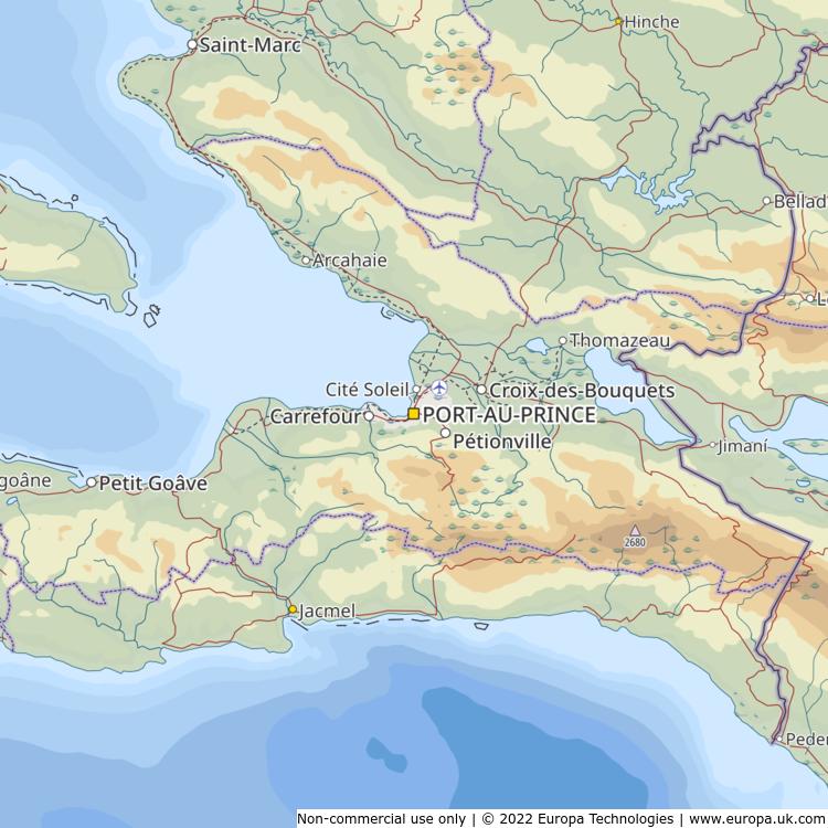 Map of port au prince haiti global 1000 atlas map of port au prince haiti gumiabroncs Image collections