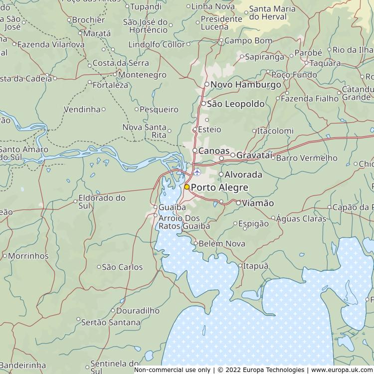 Map of Porto Alegre, Brazil from the Global 1000 Atlas