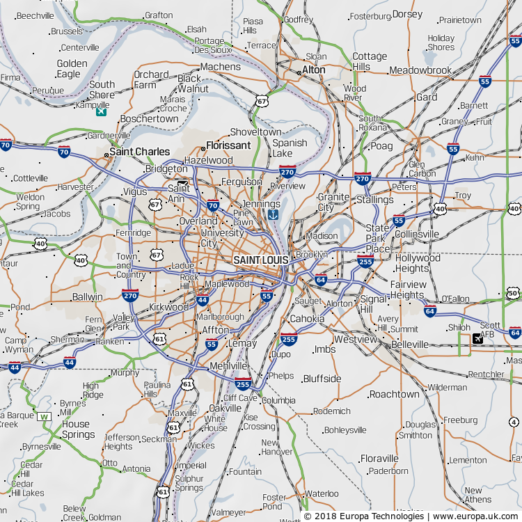 Map of Saint Louis, United States | Global 1000 Atlas