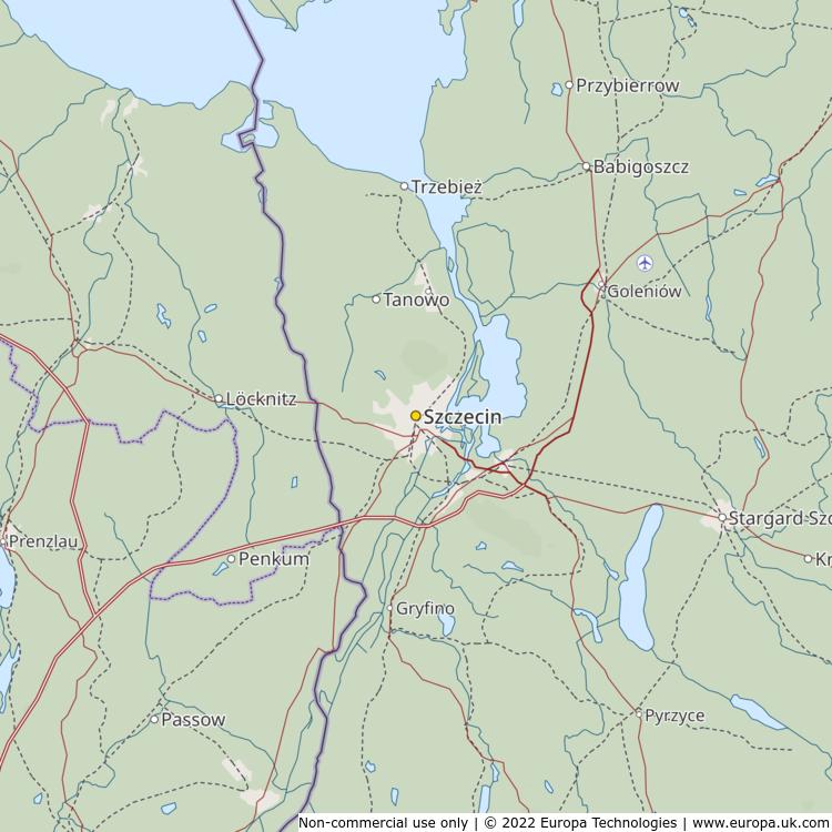 Map of Szczecin Poland Global 1000 Atlas