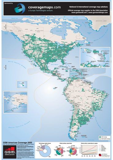 GSM Americas Coverage Map 2005