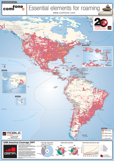 GSM Americas Coverage Map 2007
