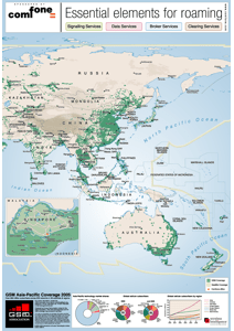 GSM Asia-Pacific Coverage Map 2005