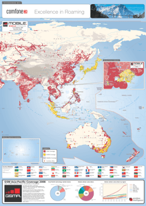 GSM Asia-Pacific Coverage Map 2008