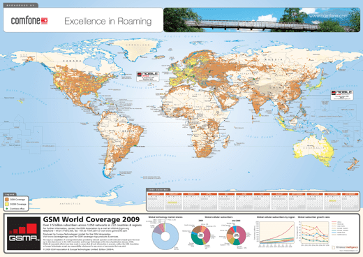 GSM World Coverage Map 2009