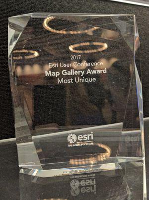 Most Unique Map Award - Esri User Conference 2017