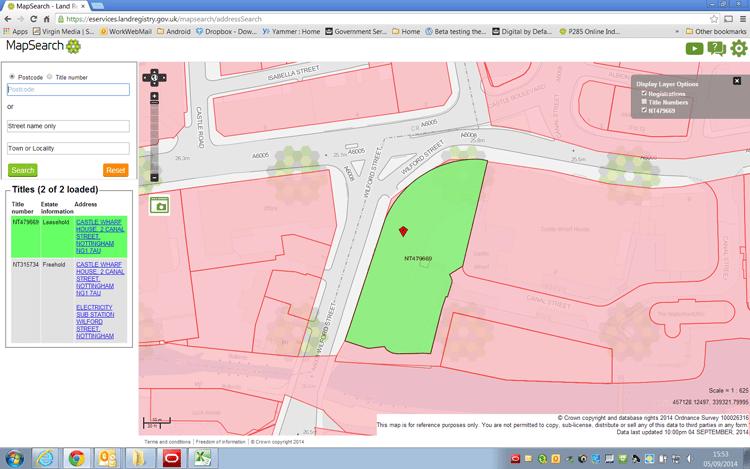 Land Registry Mapsearch