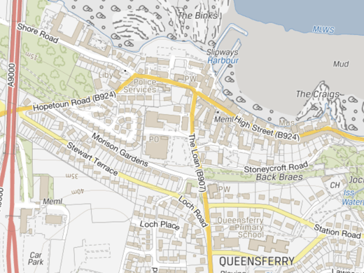 OS VectorMap Local - Queensferry