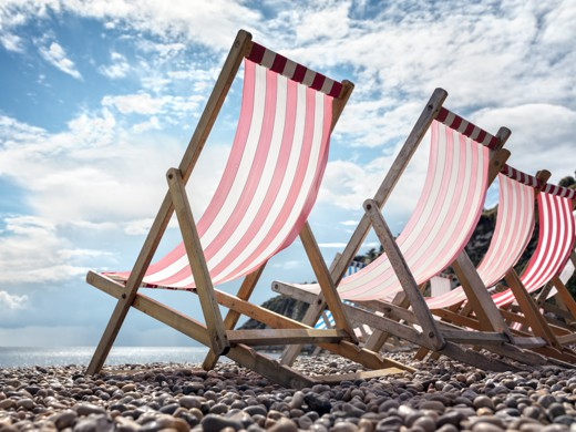 Market Trace for Tourism - Deck chairs on a Beach