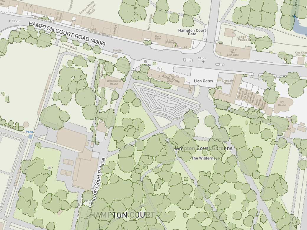 National Tree Maps visualised with viaEuropa